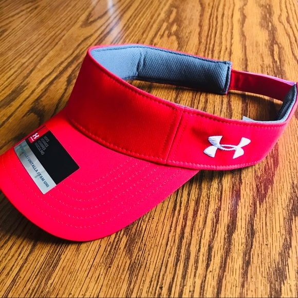 aef0a9d6 Under Armour Accessories | Nwt Under Amour Mens Red Visor Cap ...